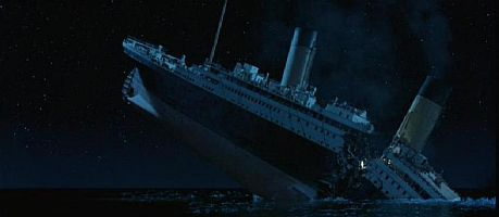 how long did it take to sink the titanic how did the